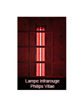 Lampe infrarouge Philips Vitae 500 watts lumière rouge ou blanche